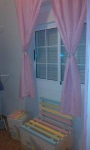 cortinas vichy rosa