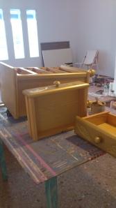 dsc_02752 Mesa fabricada con loseta de madera tropical.