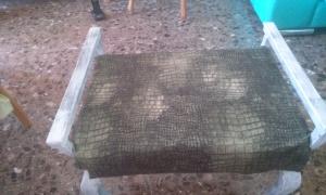 20140923_121152 Banqueta de madera tapizada con reposabrazos.