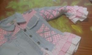 20141124_174019 Delantal a partir de mangas de chaqueta vaquera.