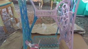 dsc_0401 Pie de máquina de coser singer, rosa.