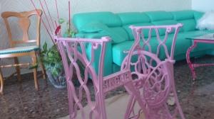 dsc_0402 Pie de máquina de coser singer, rosa.