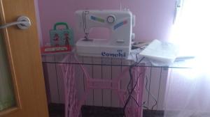 dsc_0406 Pie de máquina de coser singer, rosa.