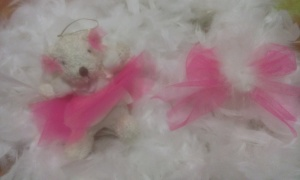 osita y lazo rosa tul