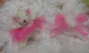 osita-y-lazo-rosa-tul Arbol de Navidad.