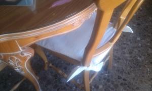 vista-de-cerca-del-cojin Restaurando taburetes.